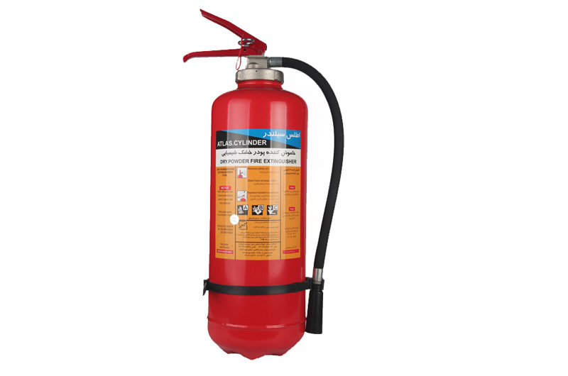 dry powder portable fire extinguishers-Internal Co2 Cartridge 6 kg