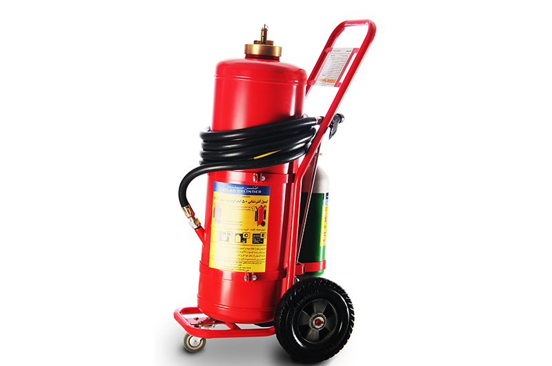 dry power mobile fire extinguishers 50kg external co2 cartridge type