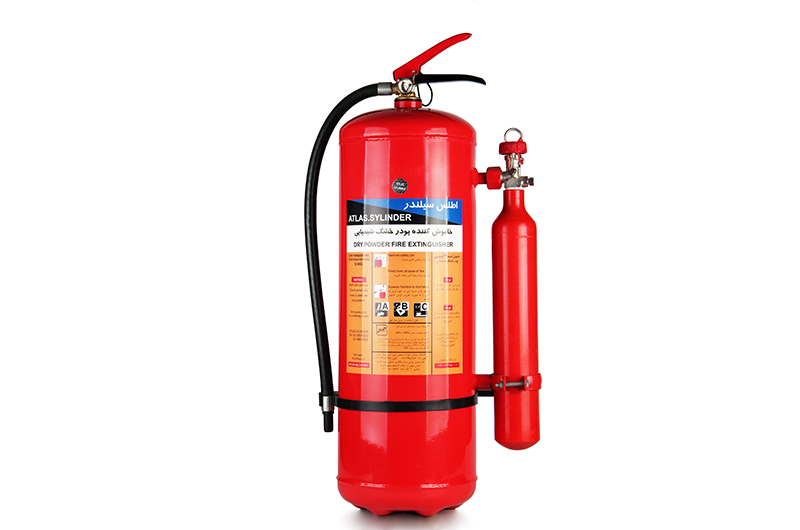 dry powder portable fire extinguishers-External Co2 Cartridge Type P12